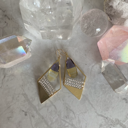 Ametrine Diamond Brass Metallics