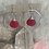 Thumbnail: Glowing Pink Chalcedony Hoops