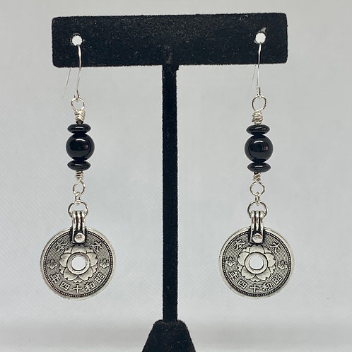 Silver and Black with Asian Coin