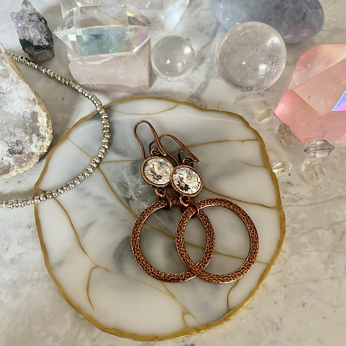 Swarovski Copper Hoops