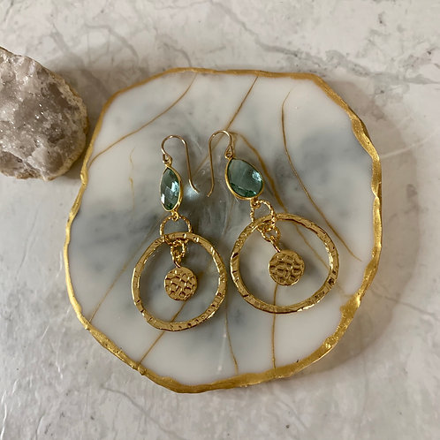 Hammered Gold Coin Apatite