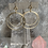 Thumbnail: Double Simple Brushed Gold Hoops
