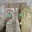 Thumbnail: Aqua Chalcedony & Prehnite Gold Hoops