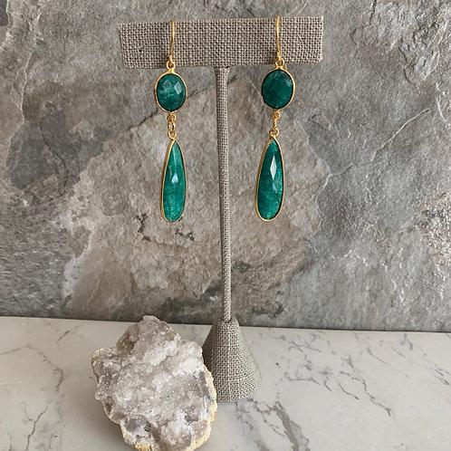 Golden Emerald Drops