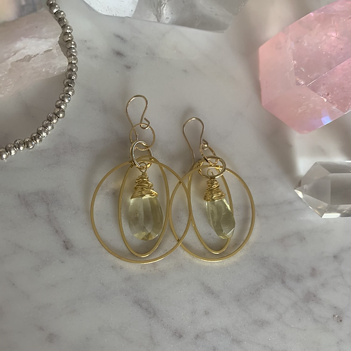 Gorgeous Golden Lemon Drop Hoops