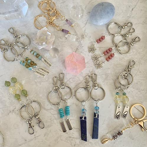 Gemstone & Beaded Keychains