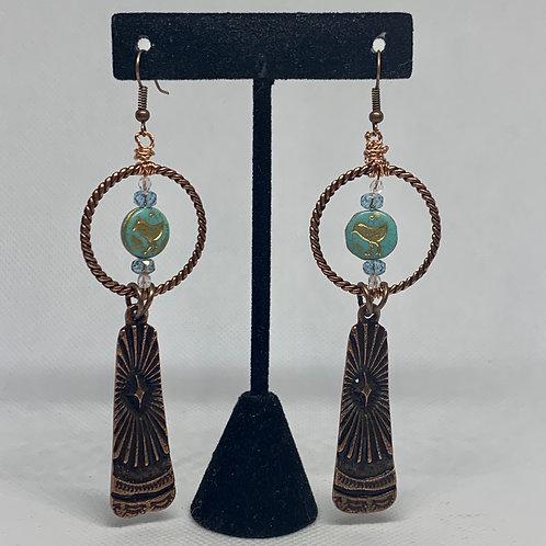 Long Copper Tribal Birds