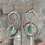 Thumbnail: Hammered Silver Amazonite Stack Hoops