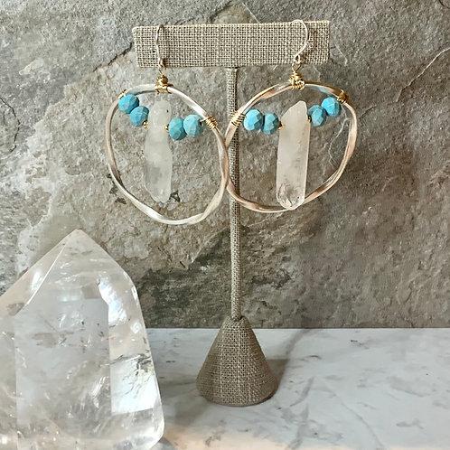 Two-Tone Turquoise & Crystal Quartz