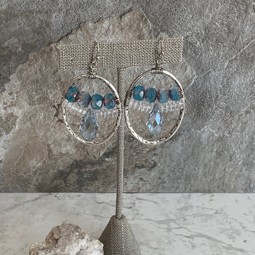 Silver Icy blue Crystal