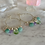 Thumbnail: Silver Wrapped Gem Hoops