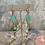 Thumbnail: Aqua Czech Diamond Brass Doubles