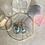 Thumbnail: Delicate Larimar Silver Hoops