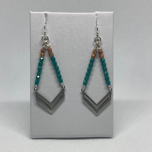 Silver & Turquoise Chevron