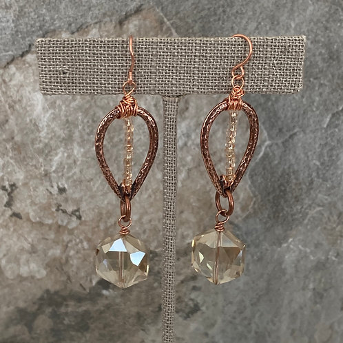 Copper Drop Champagne Crystal