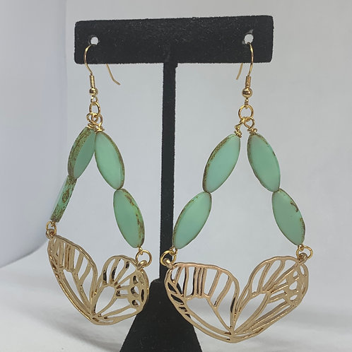 Golden Mint Butterflies