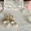 Thumbnail: Hammered Gold Large Quartz Crystal Drops