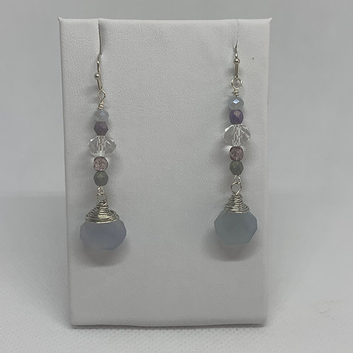 Natural Blue Silver Dangles