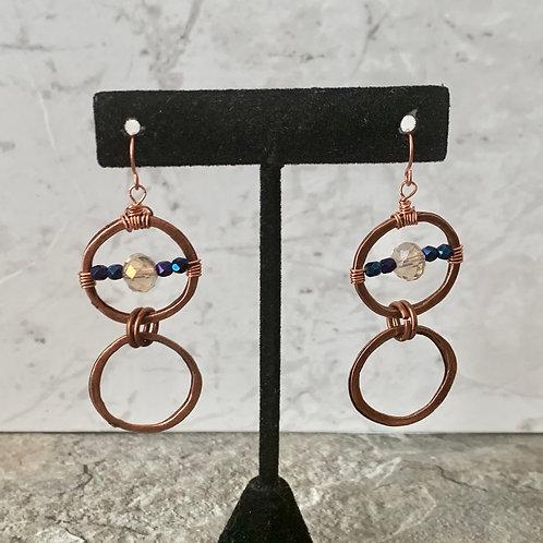 Copper Metallic Blue Iris