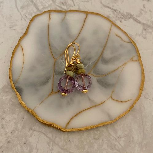 Czech Purple Peridot Drops