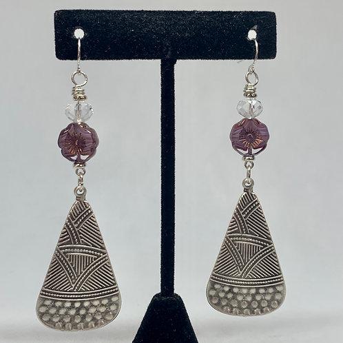 Purple Silver Stripes