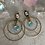Thumbnail: Swarovski Double Brass Apatite Crystal Hoops