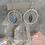 Thumbnail: Silver Twist Labradorite Hoops