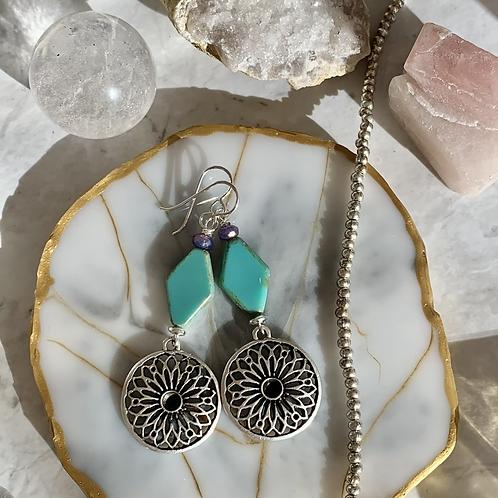 Czech Diamond Silver Pendants