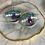 Thumbnail: Ocean Wave Gemstone Hoops