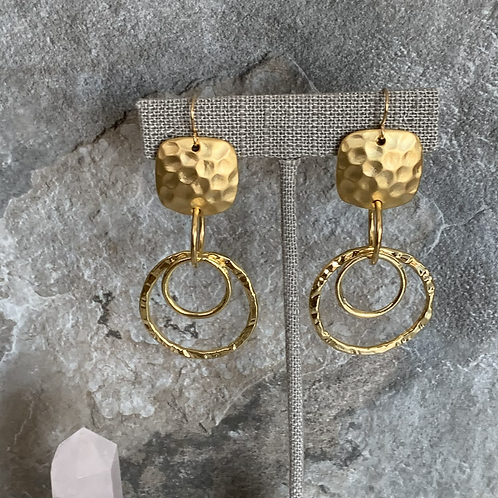 Square Hammered Hoops