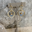 Thumbnail: Blue Chalcedony Gold Double Hoops