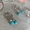 Thumbnail: Natural Turquoise Silver Hoops