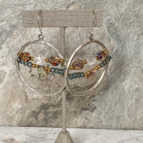 Czech Colorful Leaf Hoops