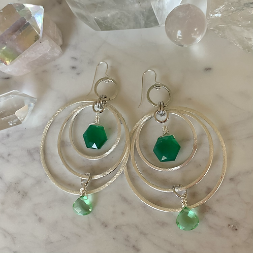 Triple Silver Green Queen