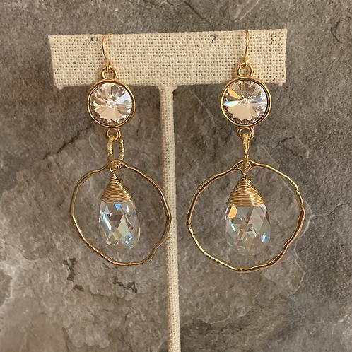 Double Swarovski Crystals