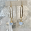 Thumbnail: Brass Slims & Cloudy Blue Czech Drops