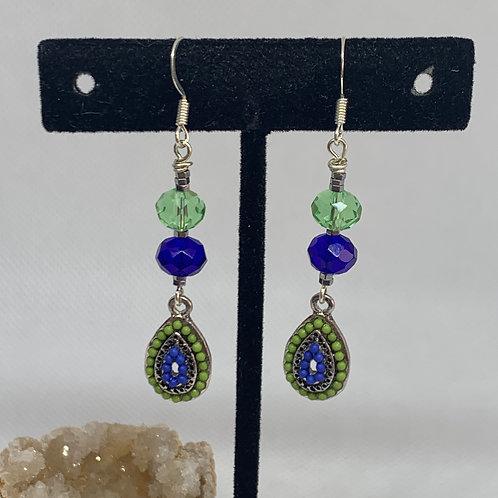 Green & Blue Teardrops