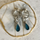 Thumbnail: Silver Beaded Drop Hoop