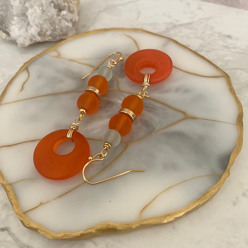 Tangerine & Gold Recycled Glass