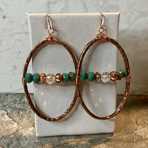 Copper Turquoise & Crystal