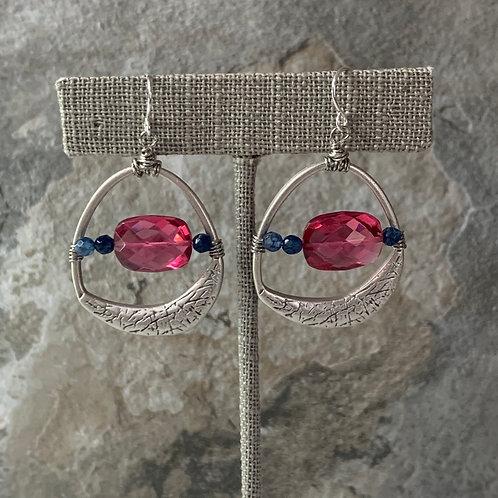Silver Pink Quartz & Sapphire