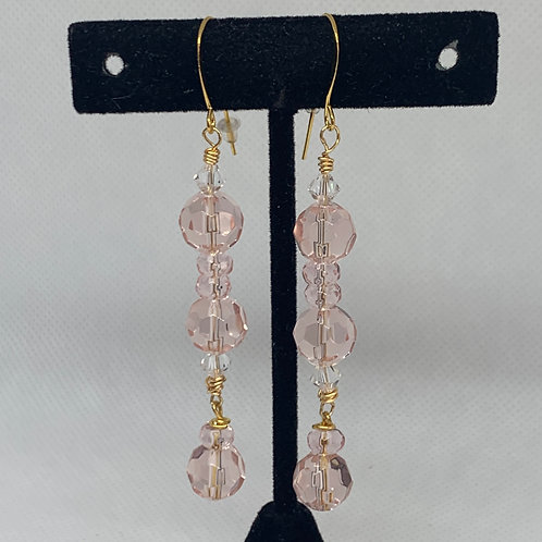 Gold & Clear Crystal Dangles