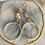 Thumbnail: Silver Swarovski Crystal Hoops