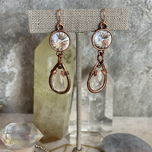 Copper Mystic Quartz Crystal Drops