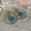Thumbnail: Gold Blue Chalcedony Dream Hoops