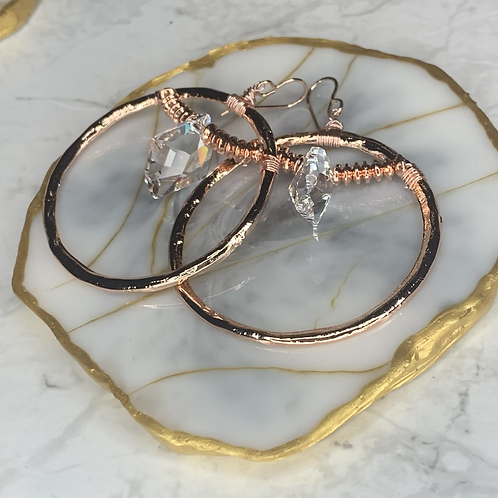 Rose Gold Clear Crystal
