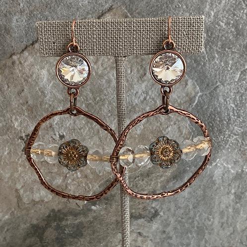 Copper Crystal Dream Hoops