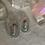 Thumbnail: Large Silver Amazonite Hammered Ovals