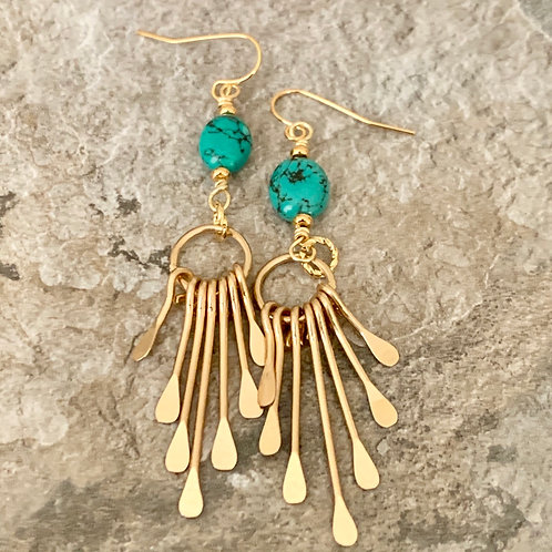 Turquoise Gold Paddles