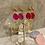 Thumbnail: Ultra Light Hot Pink Chalcedony Hoops